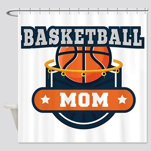Basketball Mom Shower Curtain