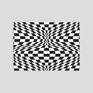 Op Art Checks 5'x7'Area Rug