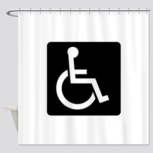 Handicapped Sign Shower Curtain