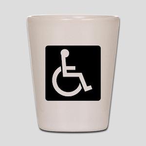 Handicapped Sign Shot Glass