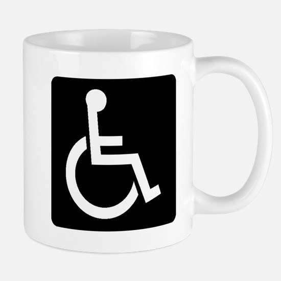 Handicapped Sign Mugs
