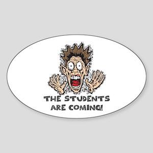Funny Teacher Gifts Oval Sticker