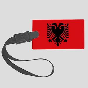 Albanian flag Large Luggage Tag