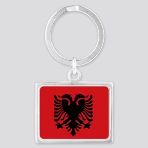 Albanian flag Landscape Keychain