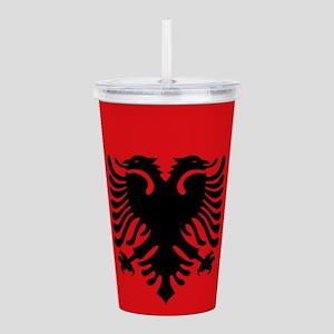 Albanian flag Acrylic Double-wall Tumbler