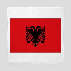 Albanian flag Queen Duvet