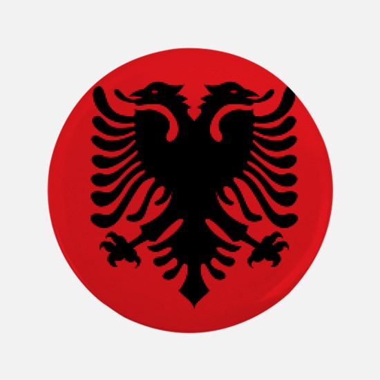 Albania Flag Button Albania Flag Buttons Pins Badges CafePress - Albania flag