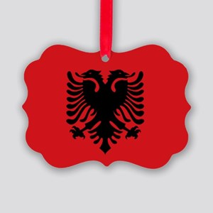 Albanian flag Picture Ornament