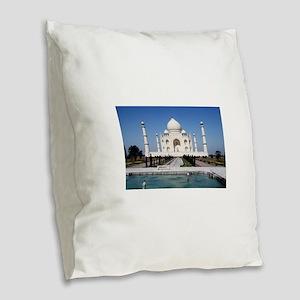 Taj Mahal - Pro photo Burlap Throw Pillow