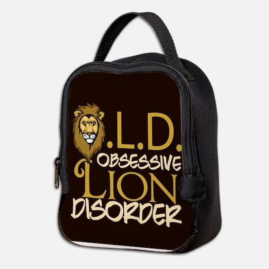 Funny Lion Neoprene Lunch Bag