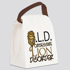 Funny Lion Canvas Lunch Bag
