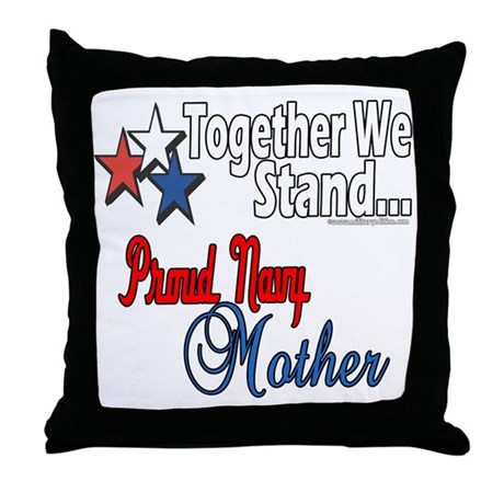 Proud Navy Mother Throw Pillow