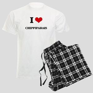 I love Chippiparais Men's Light Pajamas