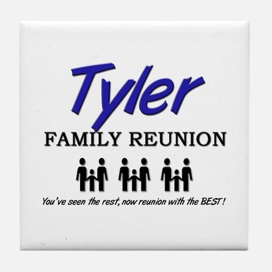 Tyler Family Reunion Tile Coaster