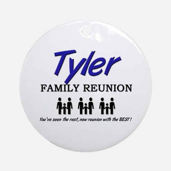 Tyler Family Reunion Ornament (Round)