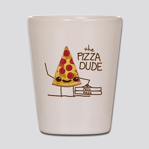 The Pizza Dude Shot Glass