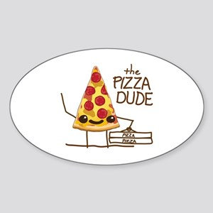 The Pizza Dude Sticker (Oval)