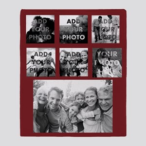 Add Your Photo Family Collage Throw Blanket