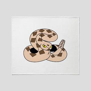 LITTLE RATTLESNAKE Throw Blanket