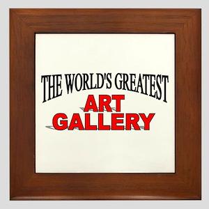 """""""The World's Greatest Art Gallery"""" Framed Tile"""