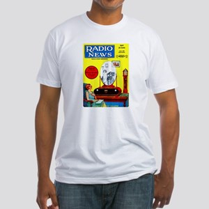 Radio News Fitted T-Shirt
