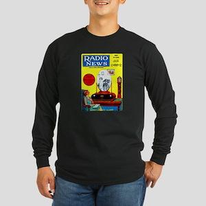 Radio News Long Sleeve Dark T-Shirt