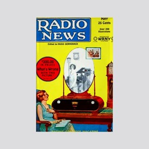 Radio News Rectangle Magnet