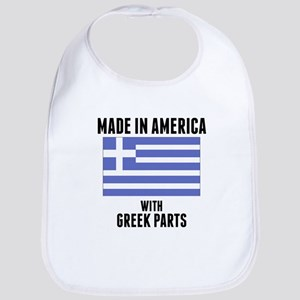 Made In America With Greek Parts Bib