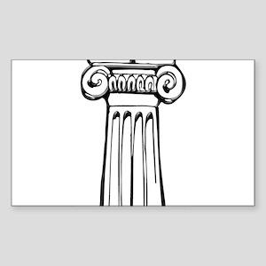 Greece: Column Sticker (Rectangle)