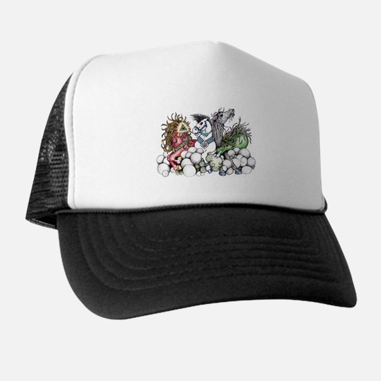 AMERICA HEAR THE GALLOP Trucker Hat