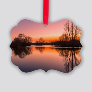 Lake reflections Picture Ornament