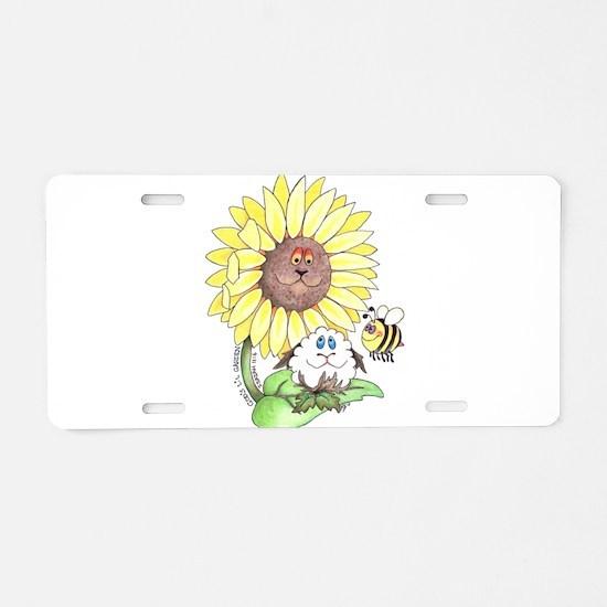 God's lil Garden Aluminum License Plate