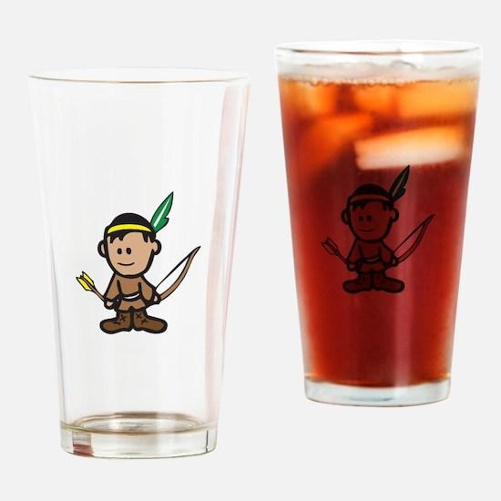 NATIVE AMERICAN BOY Drinking Glass