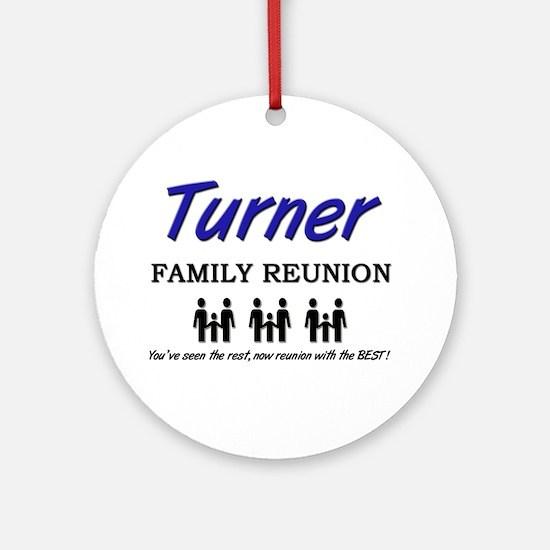 Turner Family Reunion Ornament (Round)