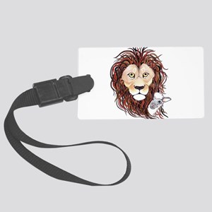 Peek-a-boo lamb with lion Large Luggage Tag