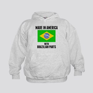 Made In America With Brazilian Parts Hoodie