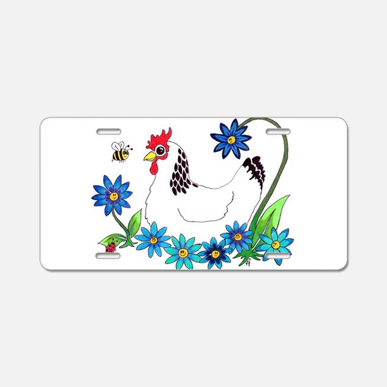 SPRING IS IN THE AIR Aluminum License Plate