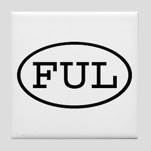 FUL Oval Tile Coaster