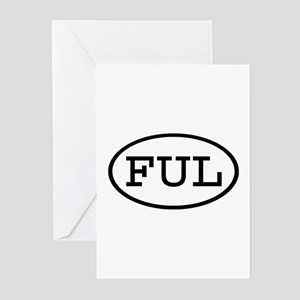 FUL Oval Greeting Cards (Pk of 10)