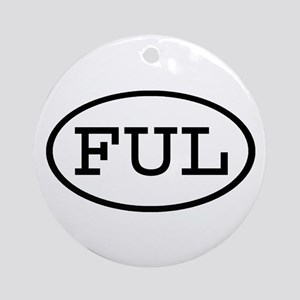 FUL Oval Ornament (Round)