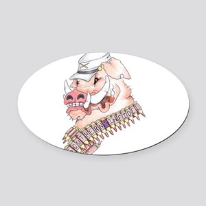 OINK Y'ALL Oval Car Magnet