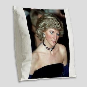 HRH Princess Diana Germany 198 Burlap Throw Pillow