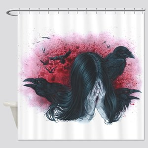 Thoughts, Fly Away Shower Curtain