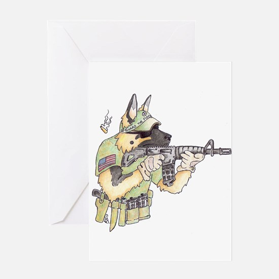 American Sheepdog Greeting Cards