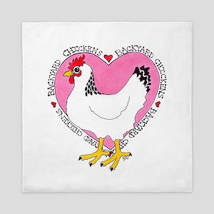 Backyard Chicken Luv Queen Duvet
