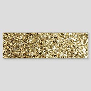 Realistic Gold Sparkle Glitter Bumper Sticker