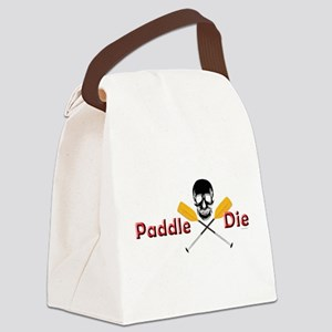 Paddle or Die.png Canvas Lunch Bag