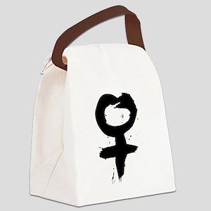 Female Symbol Canvas Lunch Bag