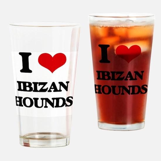 Funny Ibizan hound Drinking Glass