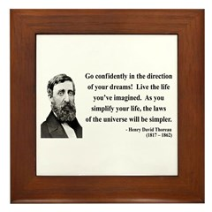 Henry David Thoreau 5 Framed Tile